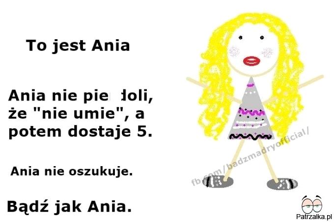 To jest Ania