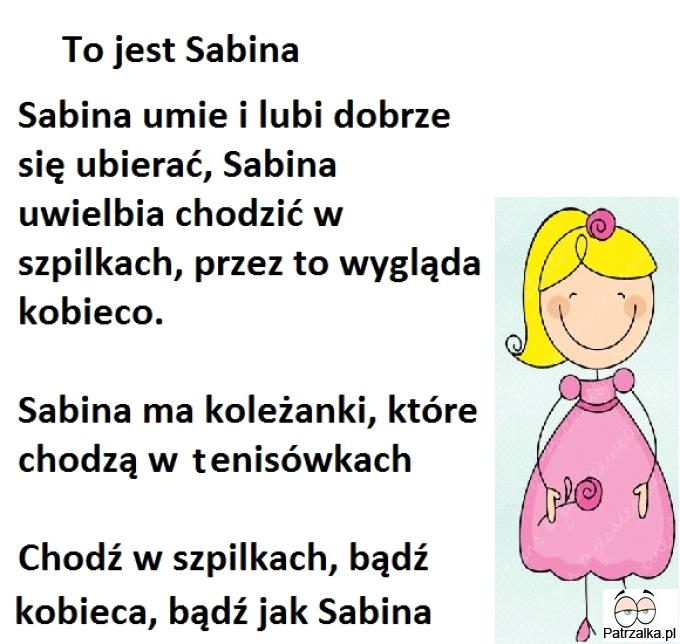 To jest Sabina