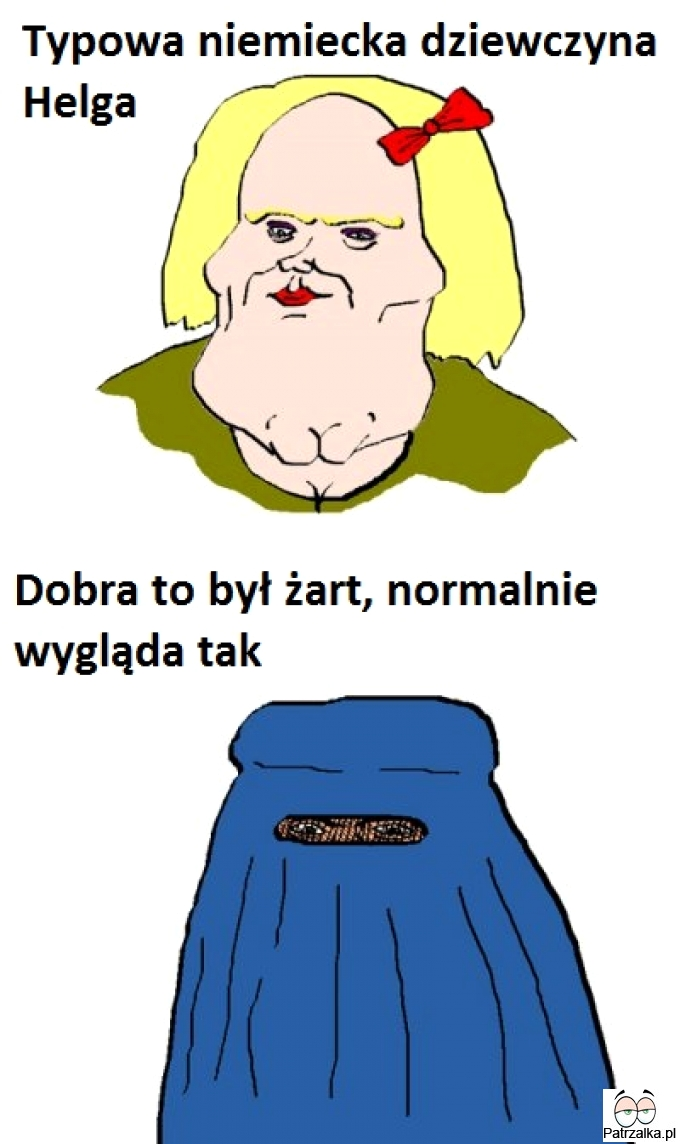 Typowa niemiecka dziewczyna Helga