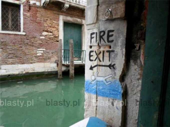 Wyjście pożarowe w Wenecji