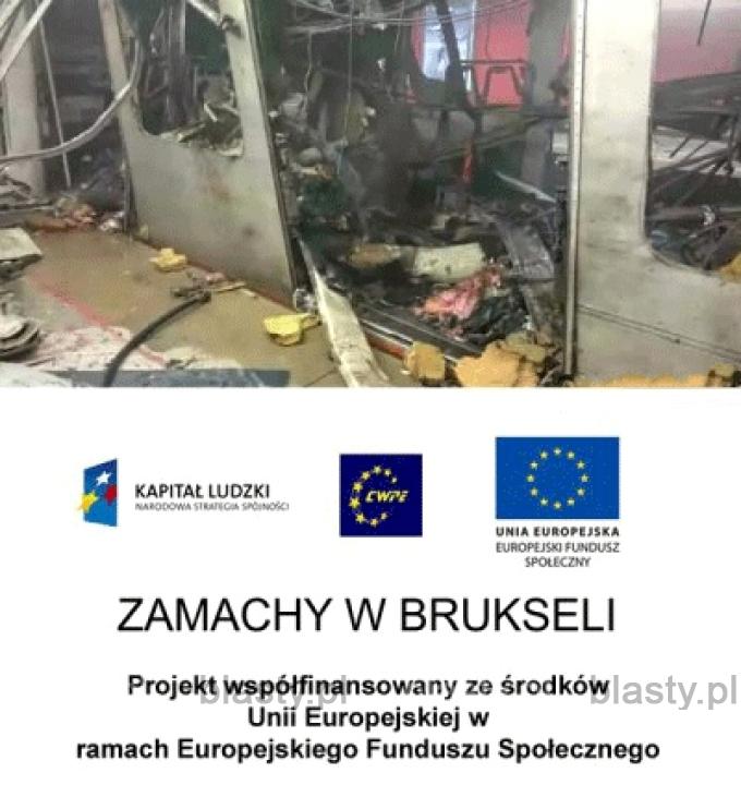 Zamachy w Brukseli program współfinansowany ze środków unii europejskiej