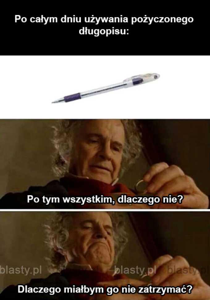 Złodzieje długopisów tacy są.