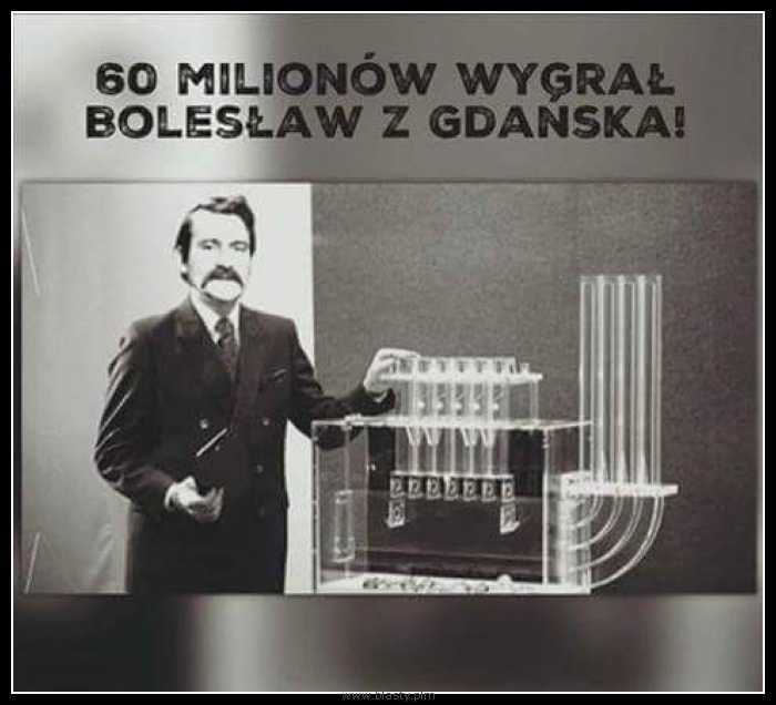 60 milionów wygrał Bolesław z Gdańska