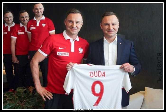 Dream team - Andrzej Duda koszulka nr 9