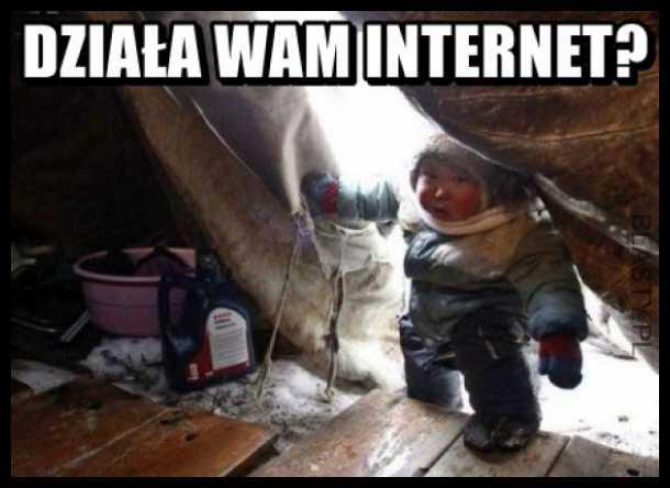 Działa wam internet ?