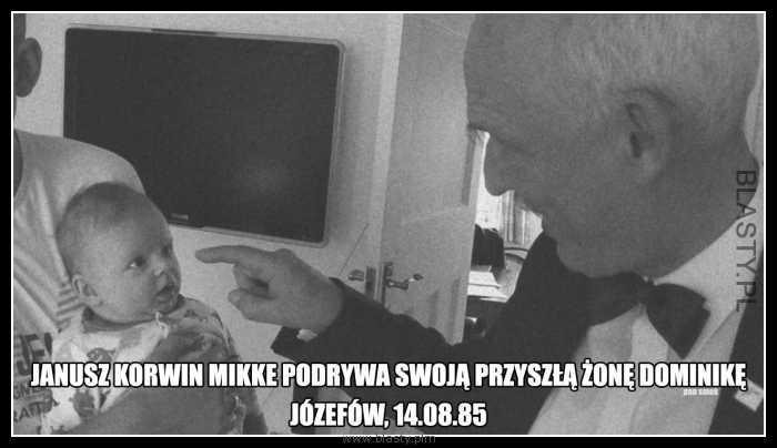Janusz Korwin Mikke podrywa swoja przyszłą żonę Dominikę