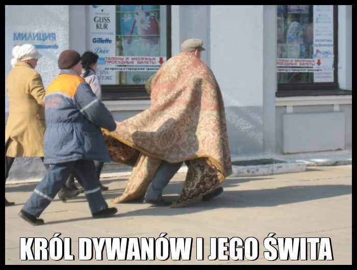 Król dywanów i jego świta