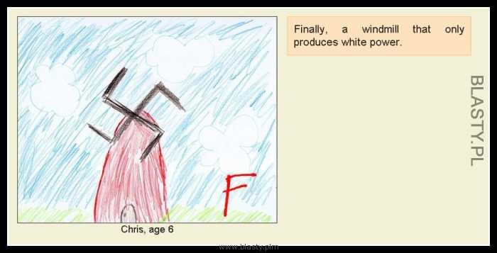 Młyn produkujący białą energię