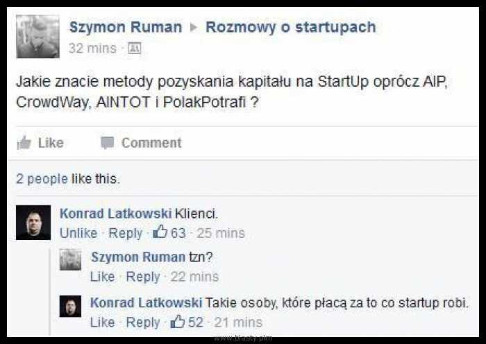 Rozmowy o startupach