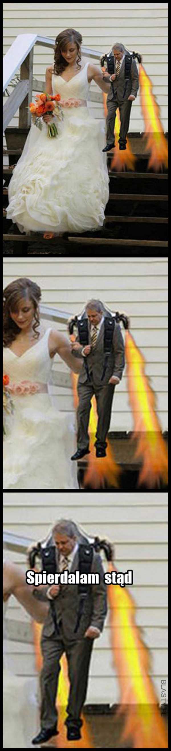Rozmyślił się i uciekł z własnego ślubu