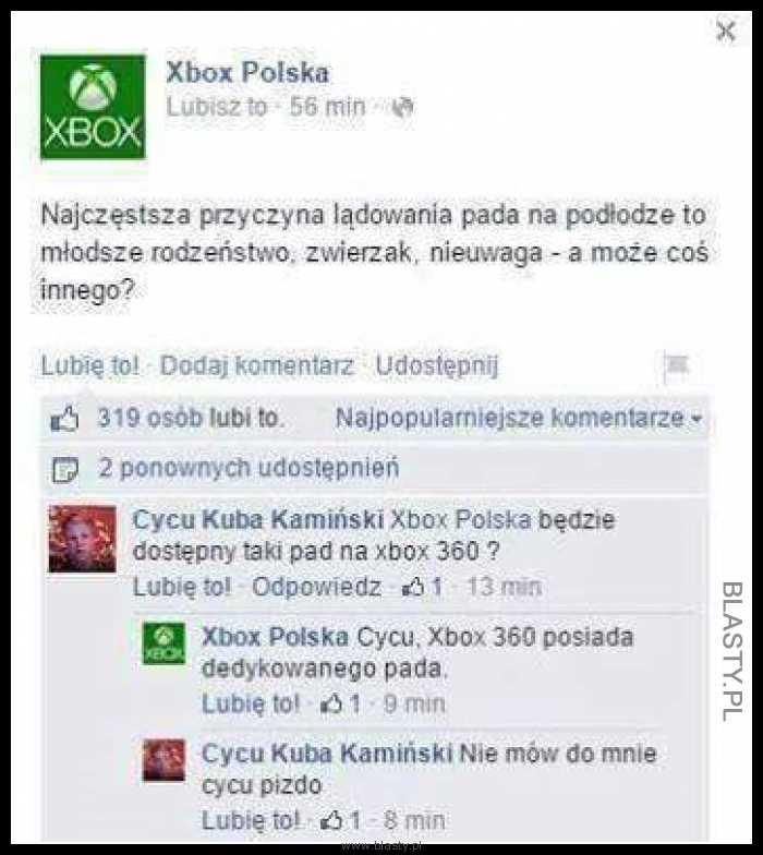Xbox najczęstsza przyczyna lądowania pada na podłodze
