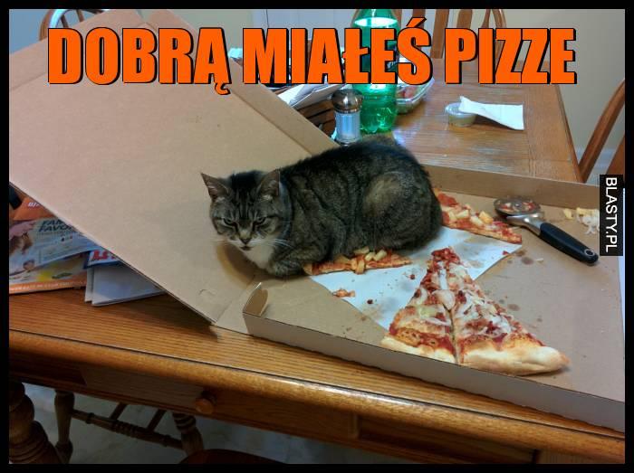 Dobrą miałeś pizze