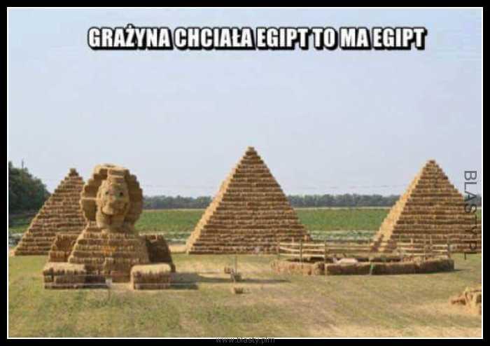 Grażyna chciała Egipt to ma Egipt