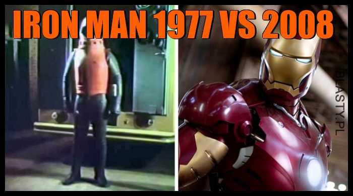 Iron man 1977 vs 2008