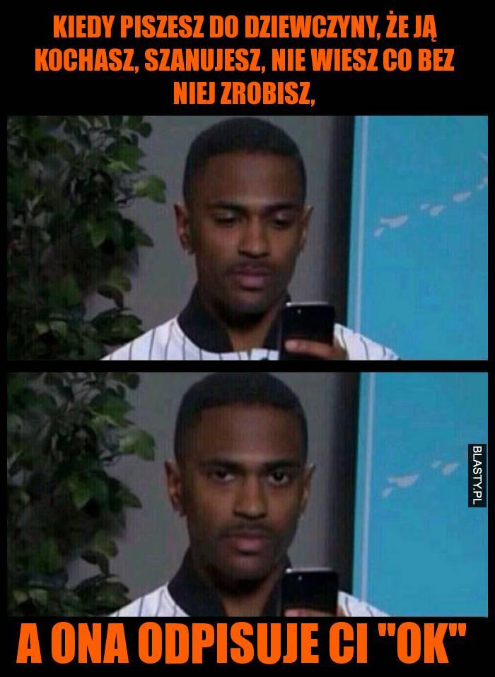 Kiedy piszesz do dziewczyny sms