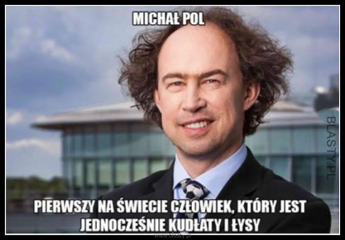 Michał Pol pierwszy na świecie człowiek, który jest jednocześnie kudłaty i łysy