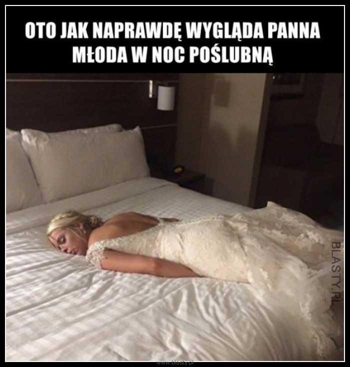 Panna młoda w noc poślubną