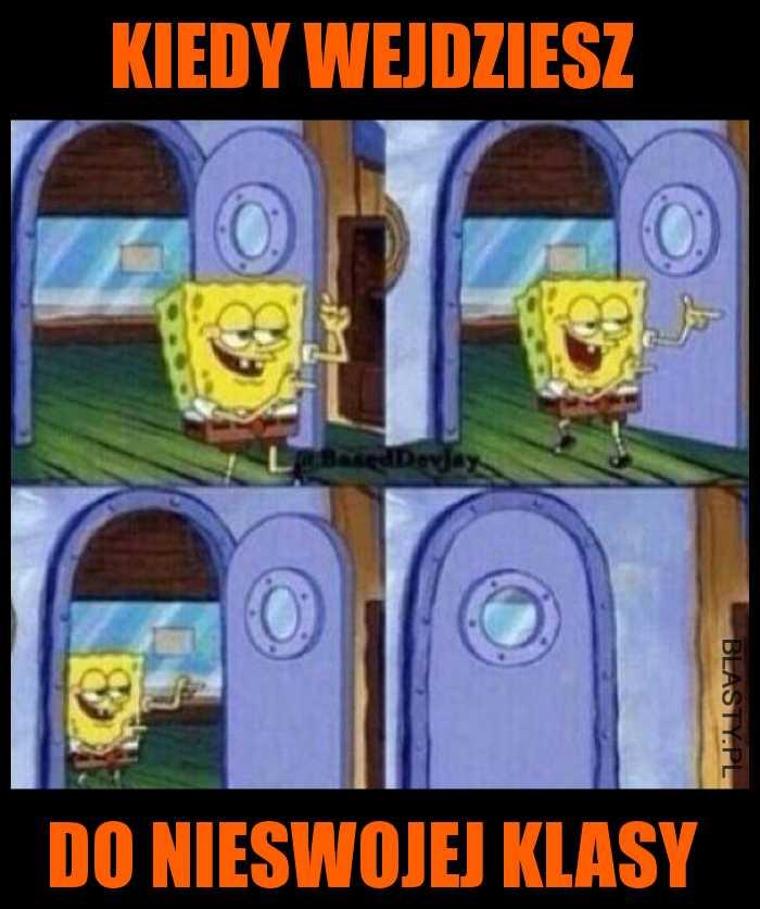 Spongebob w szkole