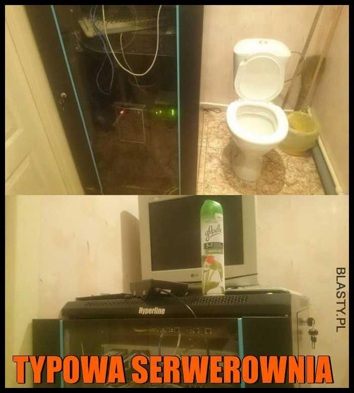 Typowa serwerownia