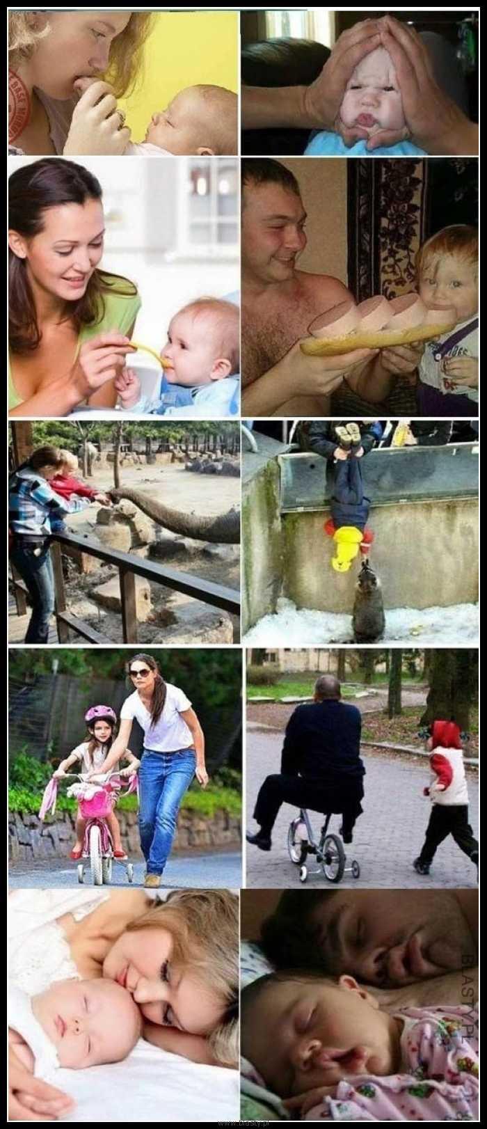 Zabawa z matką vs zabawa z ojcem