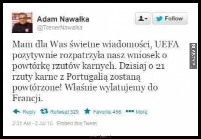 Adam Nawałka - dobra wiadomość