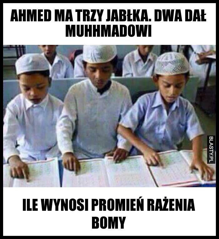 Ahmed ma 3 jabłka