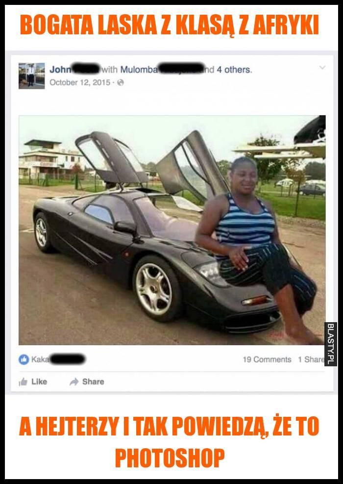 Bogata laska z klasą z Afryki