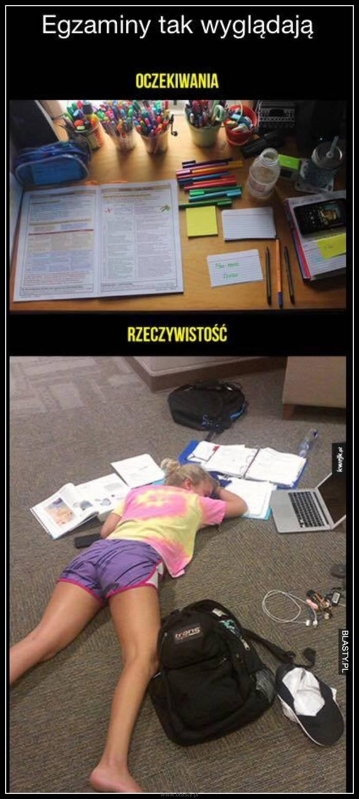 Egzaminy oczekiwania vs rzeczywistość