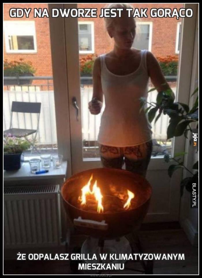 Gdy na dworze jest tak gorąco, że odpalasz grila w klimatyzowanym pomieszczeniu