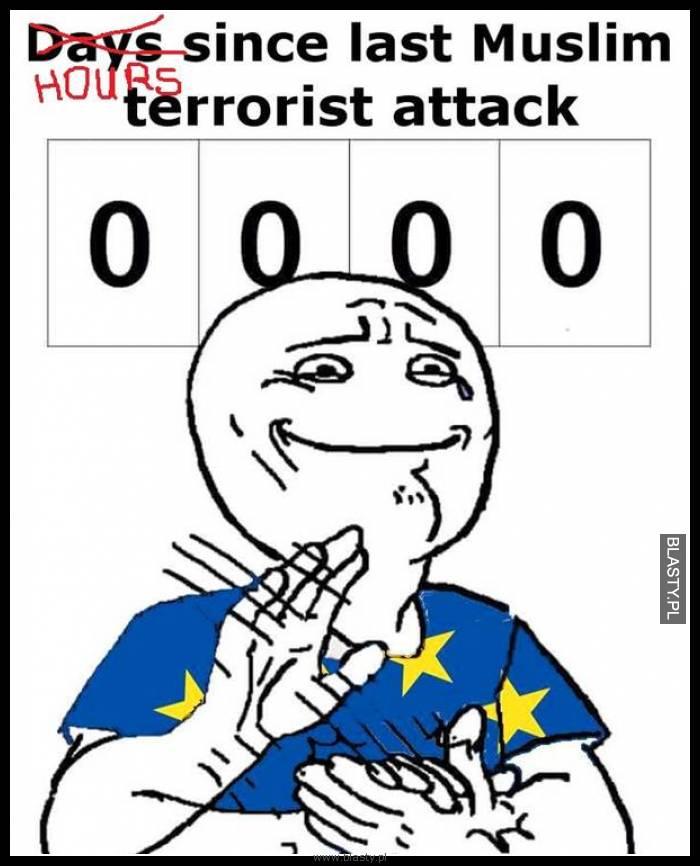 Godziny od ostatniego ataku terrorystycznego