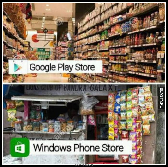 Google play store vs windows play store