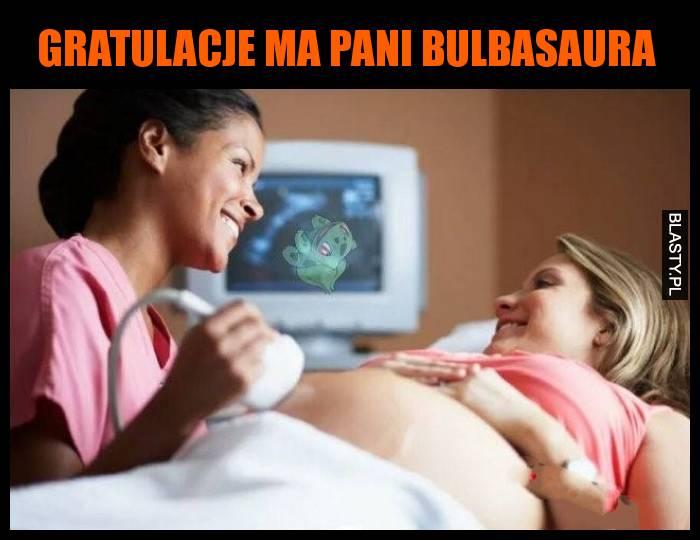 Gratulacje ma Pani Bulbasaura