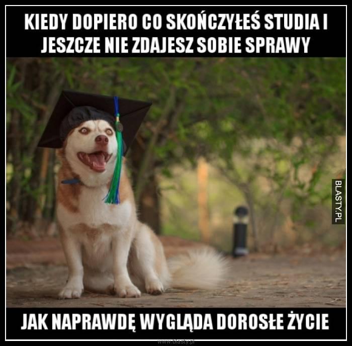 Kiedy dopiero co ukończyłeś studia