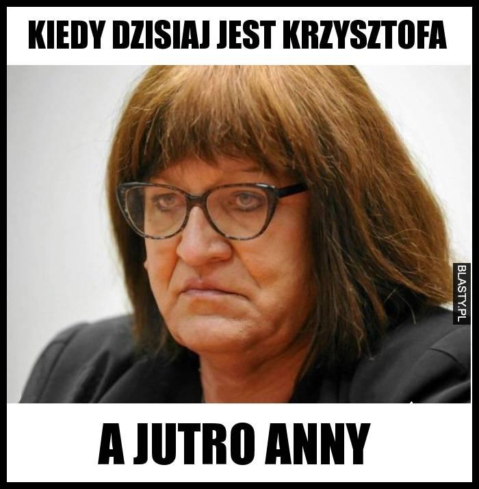 Kiedy dzisiaj jest Krzysztofa