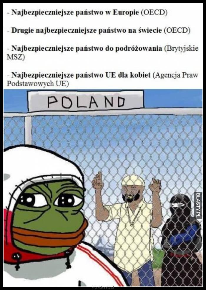 Polska najbezpieczniejszy kraj