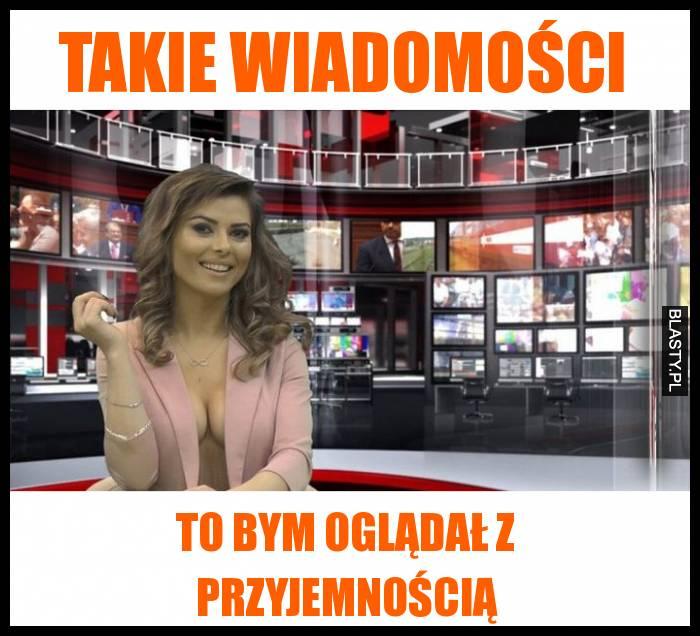 Sexi prezenterka w wiadomościach