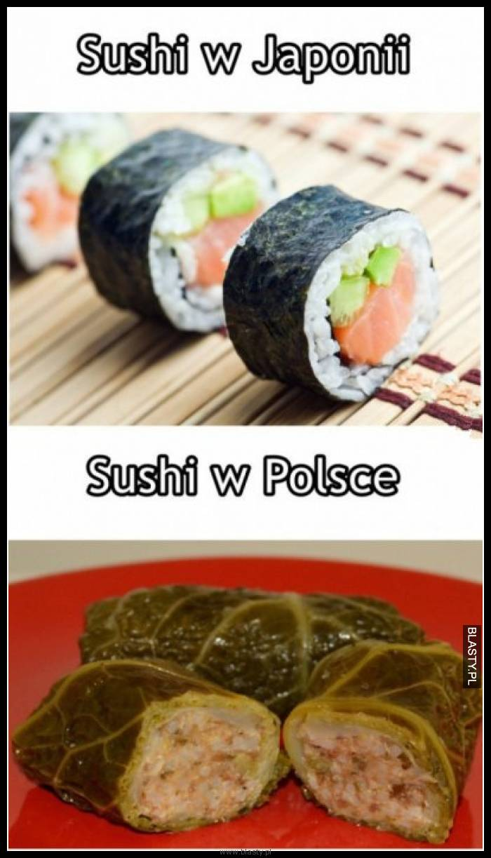 Sushi w Japonii vs Sushi w Polsce