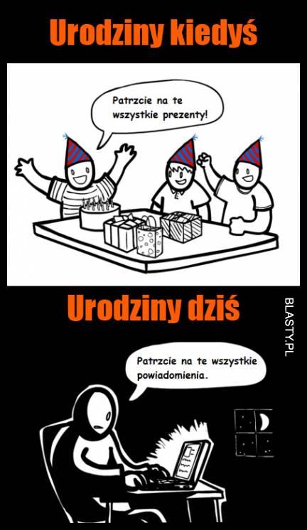 Urodziny Kiedyś I Dziś Memy Gify I śmieszne Obrazki Facebook