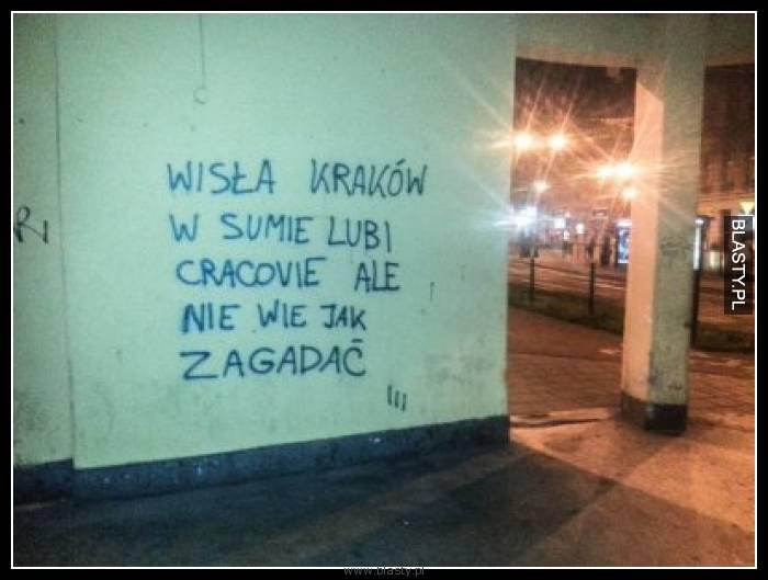 Wisła Kraków w sumie lubi Cracovie ale nie wie jak zagadać