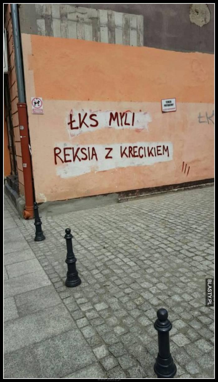 Łks myli reksia z krecikiem - humorystyczne wojny kibiców