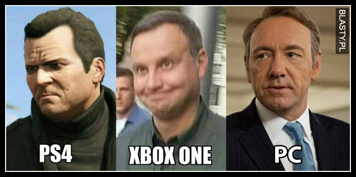 PS4 vs XBox one vs PC