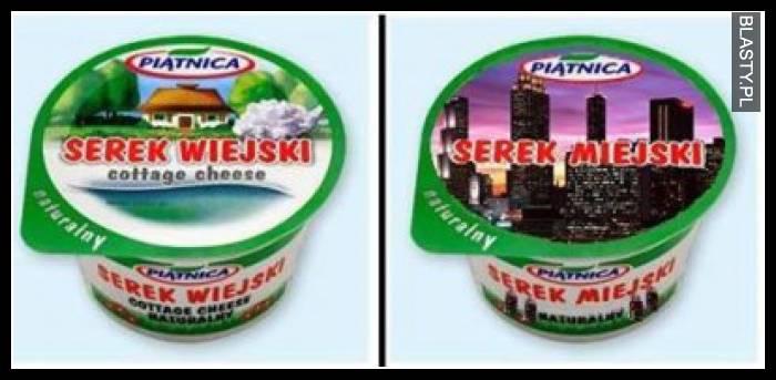 Serek wiejski vs serek miejski