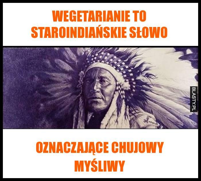 Wegetarianie to staroindiańskie słowo oznaczające chujowy myśliwy