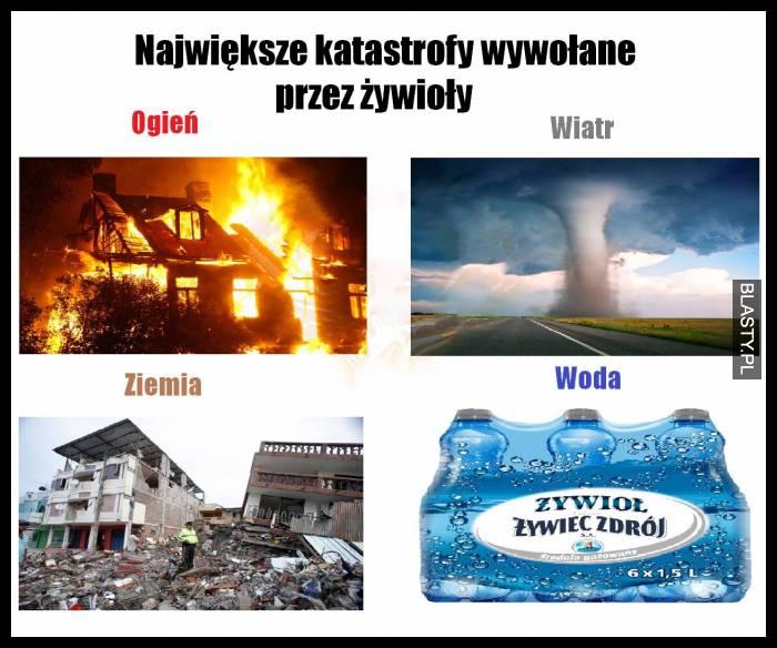 Największe katastrofy wywołane przez żywioły