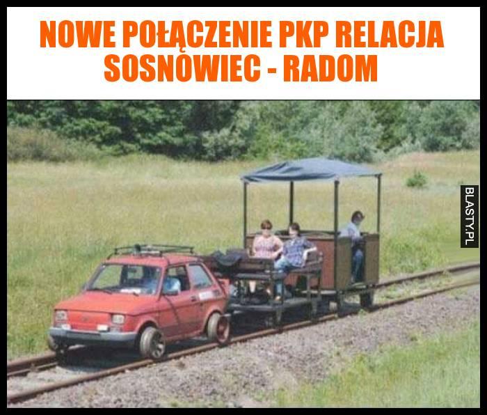 Nowe połączenie PKP relacja Sosnowiec - Radom