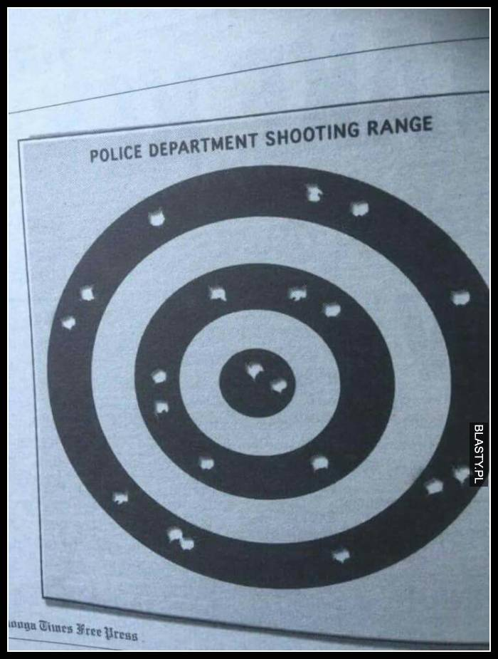 Police departament shooting range