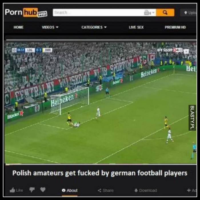 Polish amateures get fucked by german football players