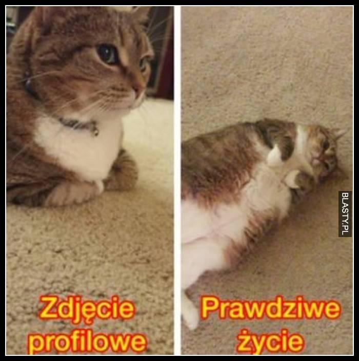 Zdjęcie profilowe vs prawdziwe życie