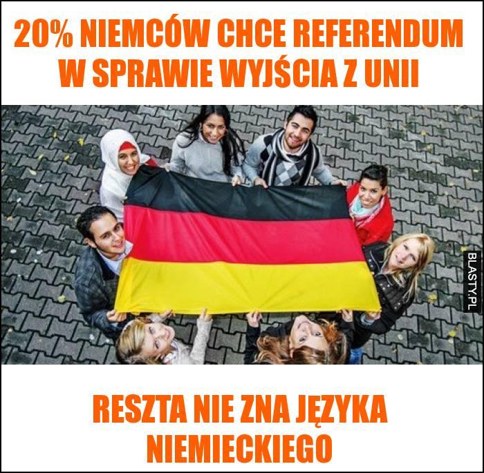 niemcy chcą wyjść z Unii Europejskiej