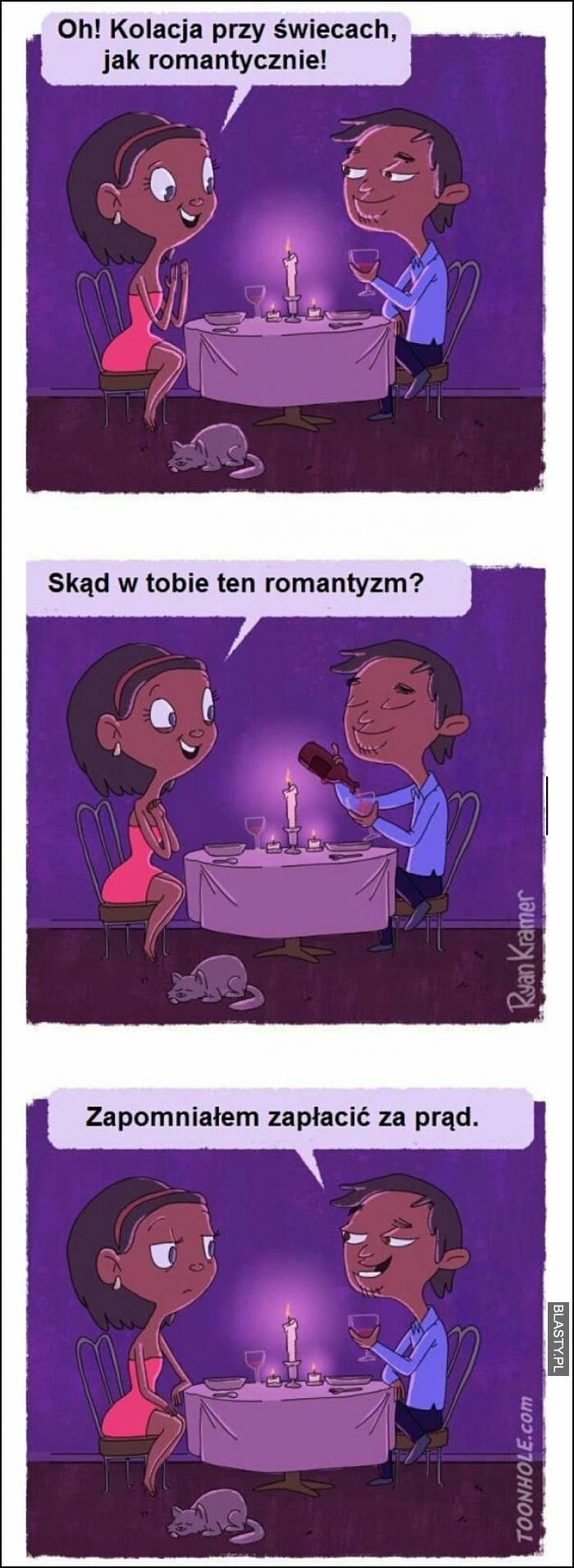 O kolacja przy świecach jak romantycznie